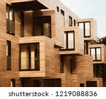 modern contemporary wood sided... | Shutterstock . vector #1219088836