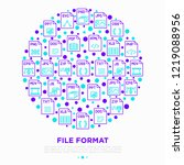 file formats concept in circle... | Shutterstock .eps vector #1219088956