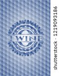 twine blue emblem with...   Shutterstock .eps vector #1219093186