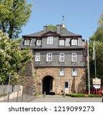 siegen.18 may 2015. entrance to ...   Shutterstock . vector #1219099273