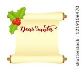 manuscript or scroll with... | Shutterstock .eps vector #1219106470