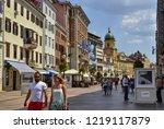 city of rijeka  istria  croatia.... | Shutterstock . vector #1219117879