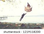 Surreal Autumn  Man Flying Away ...