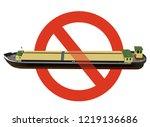 prohibition of river transport... | Shutterstock .eps vector #1219136686
