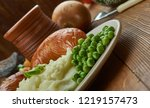 bangers and mash  english... | Shutterstock . vector #1219157473