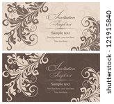 wedding invitation cards... | Shutterstock .eps vector #121915840