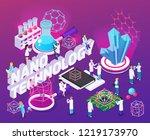 nanotechnology isometric... | Shutterstock .eps vector #1219173970