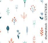 flower simple minimalist... | Shutterstock .eps vector #1219176316