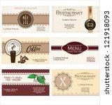 set of 6 detailed business...   Shutterstock .eps vector #121918093