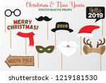 merry christmas and new year... | Shutterstock .eps vector #1219181530