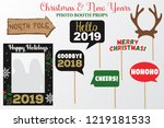 merry christmas and new year... | Shutterstock .eps vector #1219181533