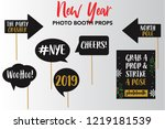 merry christmas and new year... | Shutterstock .eps vector #1219181539