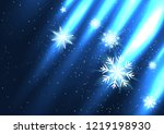 glowing snow falls from the... | Shutterstock .eps vector #1219198930