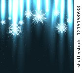 glowing snow falls from above.... | Shutterstock .eps vector #1219198933