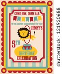kid birthday invitation card... | Shutterstock .eps vector #121920688