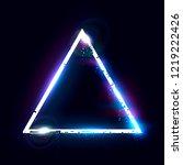 illuminated collapsing triangle ... | Shutterstock .eps vector #1219222426