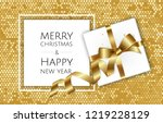 christmas background with gift... | Shutterstock .eps vector #1219228129