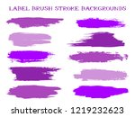 colored label brush stroke... | Shutterstock .eps vector #1219232623