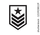 military rank badge icon in... | Shutterstock .eps vector #1219238119