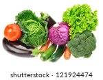 A Set Of Colorful Vegetables O...