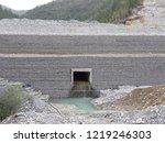gabion wall installation works... | Shutterstock . vector #1219246303