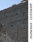 gabion wall installation works... | Shutterstock . vector #1219246309