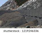 gabion wall installation works... | Shutterstock . vector #1219246336