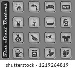 cleaning company web icons on... | Shutterstock .eps vector #1219264819