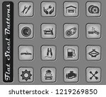 auto service web icons on the... | Shutterstock .eps vector #1219269850