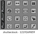 car interface web icons on the... | Shutterstock .eps vector #1219269859