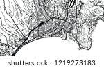 urban vector city map of nice ... | Shutterstock .eps vector #1219273183