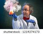 crazy chemistry professor... | Shutterstock . vector #1219274173
