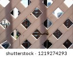 abstract lattice fence wall... | Shutterstock . vector #1219274293