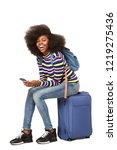 portrait of young african... | Shutterstock . vector #1219275436