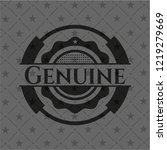 genuine black badge | Shutterstock .eps vector #1219279669