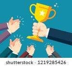 business team celebration | Shutterstock .eps vector #1219285426