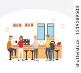 break for coffee time in co... | Shutterstock .eps vector #1219289503