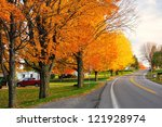 Scenic Road During Fall In...