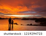 father and son standing in... | Shutterstock . vector #1219294723