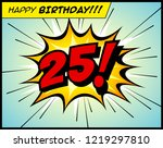 happy birthday postcard  in a... | Shutterstock .eps vector #1219297810
