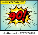 happy birthday postcard  in a... | Shutterstock .eps vector #1219297840