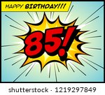 happy birthday postcard  in a... | Shutterstock .eps vector #1219297849