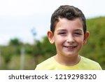 portrait of happy smiling child ... | Shutterstock . vector #1219298320