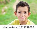 portrait of happy smiling child ... | Shutterstock . vector #1219298326