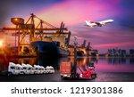 logistics and transportation of ... | Shutterstock . vector #1219301386