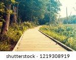 wetlands on a cloudy day   Shutterstock . vector #1219308919