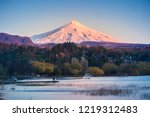 sunset view to villarrica... | Shutterstock . vector #1219312483