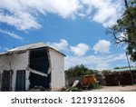 houses destroyed during the war ... | Shutterstock . vector #1219312606