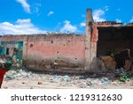 houses destroyed during the war ... | Shutterstock . vector #1219312630