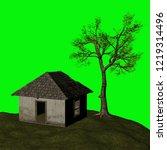 abandoned house  3d illustration | Shutterstock . vector #1219314496